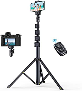 Andobil 61 Inch Phone Tripod Stand with Bluetooth Remote
