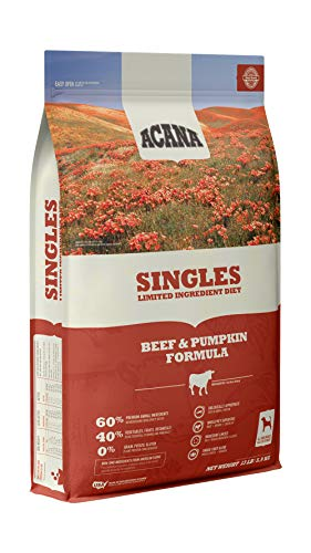 ACANA Singles Limited Ingredient Dry Dog Food, Beef & Pumpkin, Biologically Appropriate & Grain Free