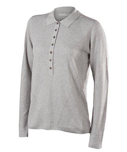 Falke dames Portofino poloshirt lange mouwen - zijde, linnen, 1 stuk, versch. kleuren, XS-XXL - vochtregulerend, snel drogen.