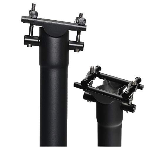 QIKU Tija de sillín Carbon para Bicicleta 、Negro 3K/UD Mate Diámetro 27.2 * 31.6 (27.2 * 350mm, UDmttt)