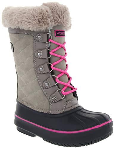 LONDON FOG Girls Beckenham Cold Weather Snow Boot Grey Size 3