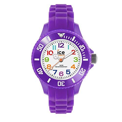 ICE-WATCH - ICE mini Purple - Lila Mädchenuhr mit Silikonarmband - 000788 (Extra small)