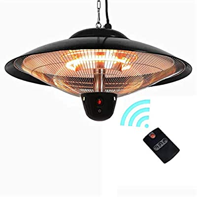 Aokairuisi Electric Outdoor Patio Heater Electric Hanging Ceiling Patio Heater with Balcony Courtyard Ceiling Mounted Style. (Remote Control)