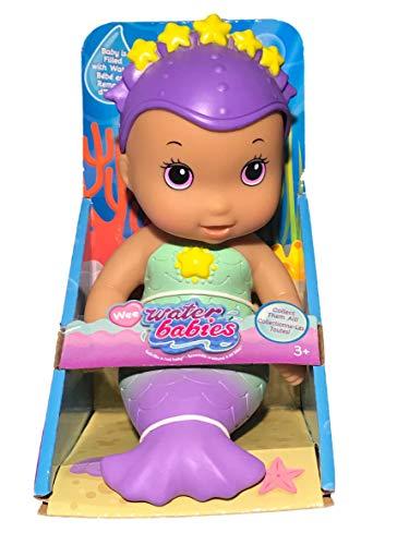 Waterbabies Just Play Wee Splash Mermaid Water Baby 6' Doll Purple Eyes/Medium Skin Color