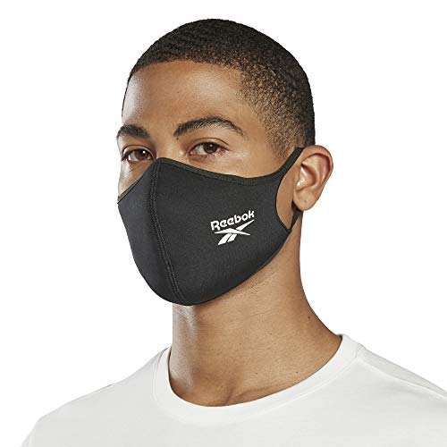 Reebok Standard Face Mask, Black, Large