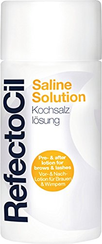 GWCosmetics RefectoCil Saline Solution zoutoplossing, verpakking van 3 stuks, (3 x 150 ml)