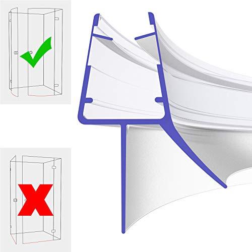Duschdichtung Gebogen 80cm 800mm für 5mm, 6mm, 7mm und 8mm 8899 Glasstärke Duschdichtung Wasserabweiser Ersatzdichtung Duschprofil Duschtürdichtung