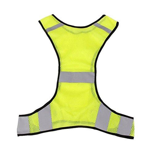 ジョギング サイクリング ウォーキング 反射 安全 ベスト - 黄色