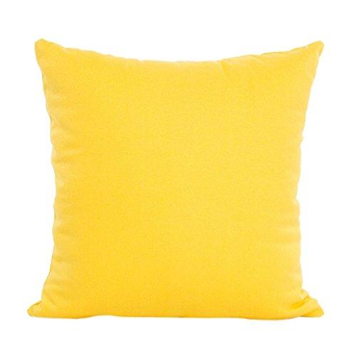 Fundas De Cojines, Xinan Sofá Almohada De Algodón Funda De Cojín De Cintura Decoración para El Hogar (Amarillo)