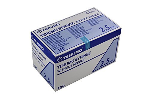 Terumo 1SS02E1 Disposable Syringe, 2.5 mL (Pack of 100)