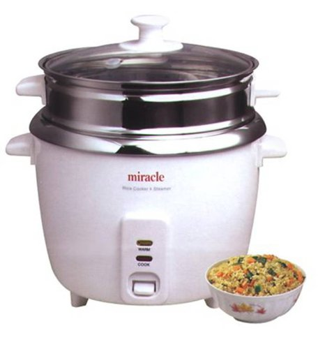 Miracle Exclusives Stainless Steel Rice Cooker Model ME81 (Formerly ME8)