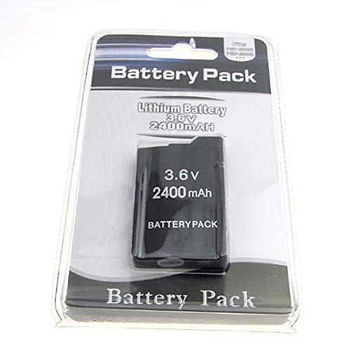 Pack de Batterie 3.6V 2400mAh pour Sony PSP2000 PSP3000 PSP 2000 PSP 3000 Batterie de Manette de Jeu pour contrôleur Playstation Portable - Noir