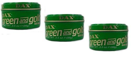 DAX Green & Gold Hair Wax Lot de 3 pots de cire pour cheveux 99 g (total 297 g)
