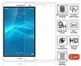 Domxteck (Paquete de 2 Protector de Pantalla para Huawei MediaPad T2 7.0 Pro, [Resistencia al Rayado] 9H Dureza Protector de Pantalla de película de Vidrio Templado de Borde
