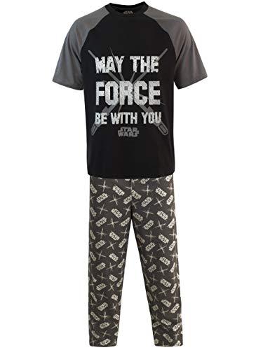 Star Wars Pijama para Hombre La Guerra de Las Galaxias Negro Small