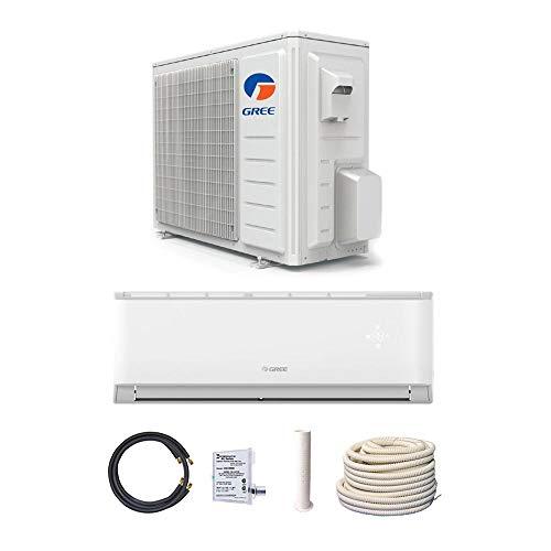 GREE 9,000 BTU 17 SEER LIVO Gen 3 Wall Mount Mini Split A/C Heat Pump 208/230V - Built-in Wi-Fi - Comfort Value Kit
