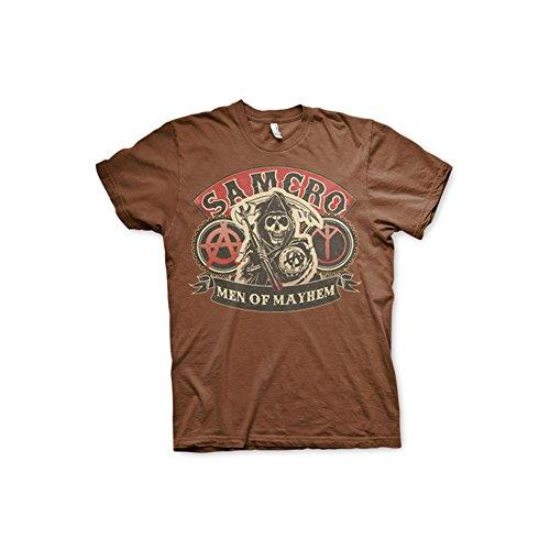 Sons Of Anarchy - SAMCRO - Men Of Mayhem heren unisex T-shirt bruin - Televisie merchandise