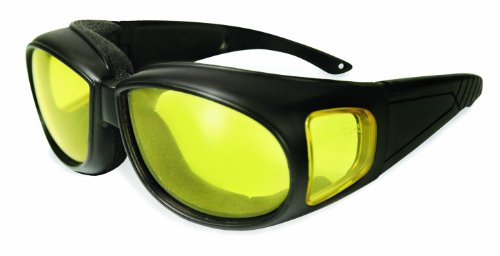 SSP Eyewear Over The Glass Safety Glasses with Amber Anti-Fog Lenses, KACHESS AM A/F
