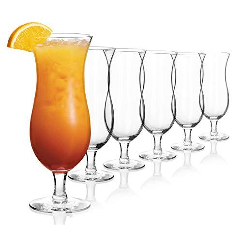 Sahm Hurricane Cocktail Gläser Set 12teilig | 470ml Cocktail Longdrinkgläser Set | Ideal als Barkeeper Set, Milchshake Glas oder als Eisbecher Glas