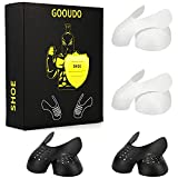 Gooudo 4 Pairs Shoes Crease Protectors Anti-Wrinkle Against Sneaker Shoes Crease Toe Box Decreaser for Men's 7-12(L)/ Women's 5.5-9(S) (BLA+WHI, Men's US L-Size 7-12)