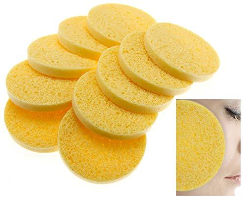 New 10 x Cellulose Facial Sponges Natural Facial Cleansing Sponge