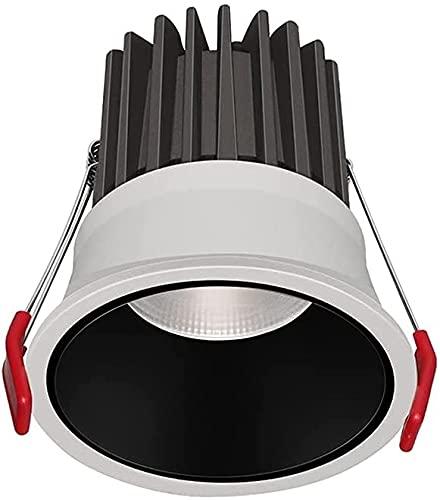 Rekaf 7W 10W 12W LED Luces empotrables redondas 38 ° Ángulo de haz Anti-deslumbramiento alto Brillo incorporado Alojamiento estrecho de la sala de estar de la pared TV luces de techo Downlight para ba