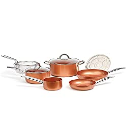 Copper Chef Cookware 9-Pc. Round Pan Set–Aluminum & Steel with Ceramic NonStick Coating