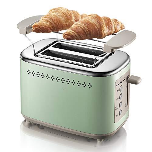 Broodrooster, Ontbijt, Toast, Bestuurder, Toast, Grill, Stofafstotend, 6-gebakken modus, Anti-Click Knop Groen