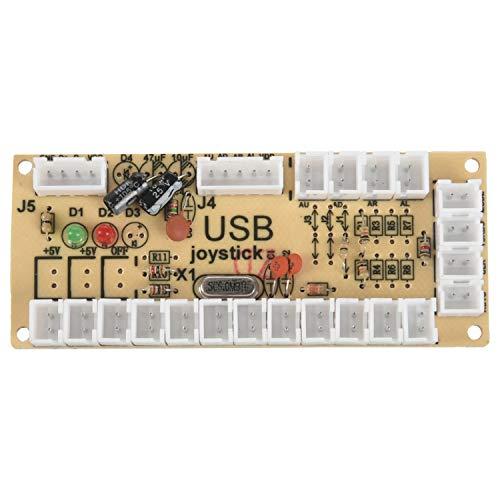 TOOGOO 2X Codificador USB Arcade de retardo cero PC a palanca de mando para palanca de mando de 5 pines & 2.8MM Boton