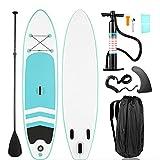 YILUFU Paddle Surf, Sup Hinchable Tabla de Stand Up Paddling, Paddle Remo Ajustable, Seguridad de PVC, hasta 120 kg, Set Completo, Tabla de Surf Sup Board con Remo y Bomba de Inflado