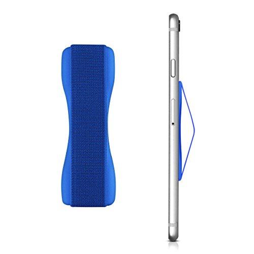 kwmobile Smartphone Fingerhalter Griff Halter - Selbstklebende Handy Fingerhalterung - Finger Halter für z. B. iPhone Samsung Sony Handys Dunkelblau