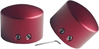 JGR Front Axle Nut Cover Axle Caps for Harley Softail Electra Road Glide Sportster (Red)