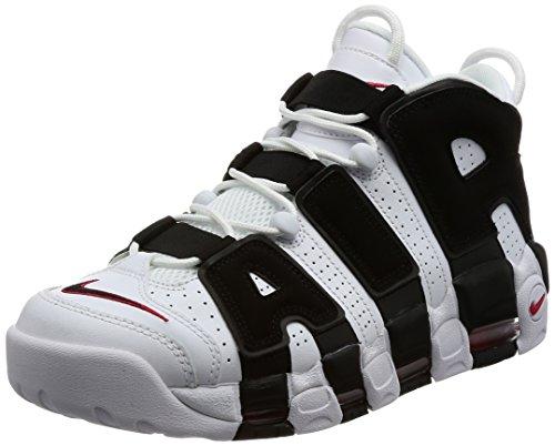 Nike 414962-105 Men AIR More Uptempo White Black RED