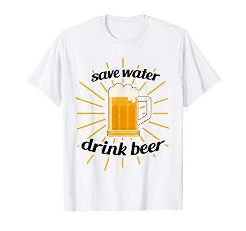 Save Water Drink Beer T-Shirt | Männer Frauen Kleidung