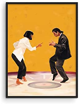 Pulp Fiction Posters Retro Room Decor by Haus and Hues Quentin Tarantino Movie Posters for Room product image