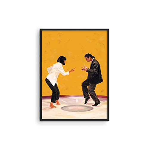 Pulp Fiction Posters Retro Room Decor - by Haus and Hues   Quentin Tarantino Movie Posters for Room Aesthetic 90s   Vintage Posters Aesthetic College Dorm Room Decor UNFRAMED (12 x 16)