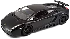 Die-Cast metal body with plastic parts Opening doors and hood Full function steering and four wheel suspension Detailed chassis with separate exhaust system Mounted on plastic stand
