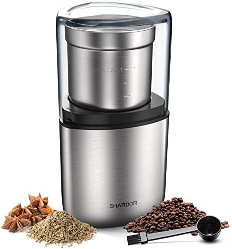 SHARDOR Electric Coffee Bean Grinder, Spice Grinder, 1 Removable Bowl with Stainless Steel Blade,...