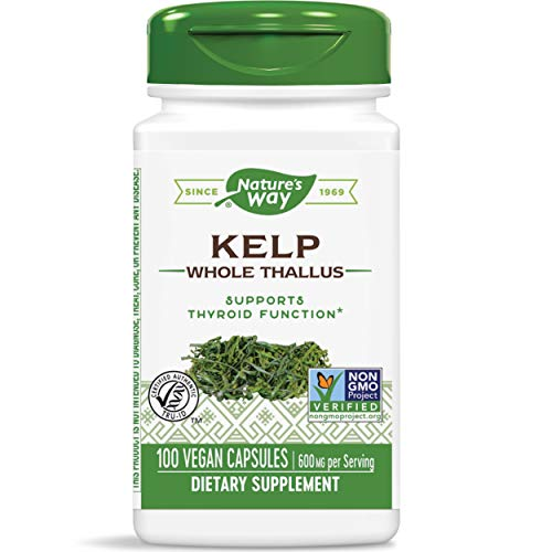 Nature's Way Kelp; 600 mg Non-GMO Project Verified Gluten Free Vegetarian; 100 Count