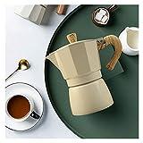 Kwent cafetera Estufa de cerámica eléctrica 150 / 300ml Cafetera de café Octagonal Pote de Aluminio Cafetera Moka Café Pot Mesa de café Espresso Estufa teteras para te (Color : Green-300ml)