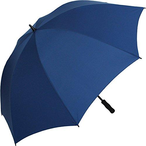 iX-brella Leichter Voll-Fiberglas- Regenschirm für 2 Personen - Größe XXL - sehr stabil - Golfschirm (Navy-blau)