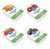 Menz&Gasser Confettura Extra Light Gusti Assortiti Albicocca, Amarena, Fragola, Ribes Nero, Confettura Monodose 100 Porzioni x 20 g