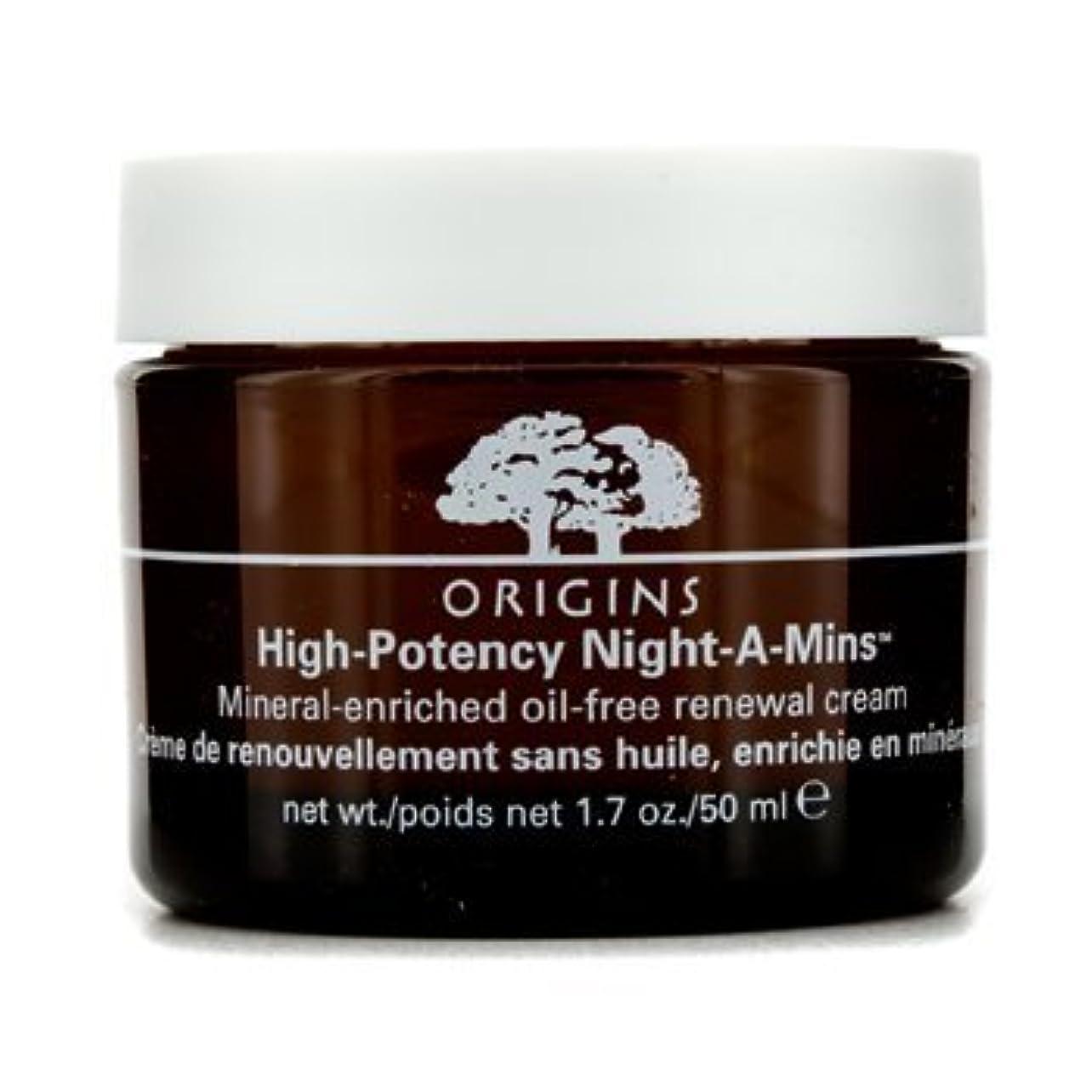 誰でも後ろに争いOrigins High Potency Night-A-Mins Mineral Enriched Oil-Free Renewal Cream 50Ml/1.7Oz by Origins [並行輸入品]