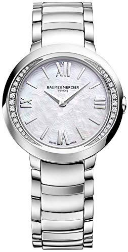 Baume et Mercier Edelstahl Promesse Mercier Damen Mutter Uhr Pearl Baume Stahl Zifferblatt et der