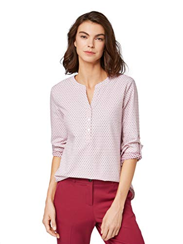 TOM TAILOR Damen Blusen, Shirts & Hemden Gemusterte Bluse Rose White Structure Stripe,38