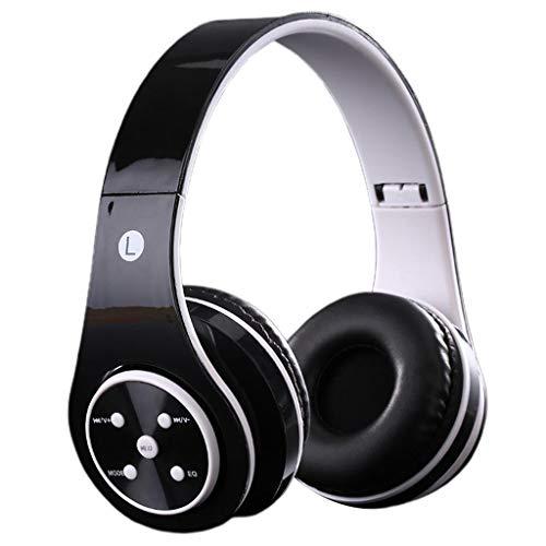 MERIGLARE ST6 2in1 inalámbrico/con Cable de 3,5mm Aux Bluetooth para niños Auriculares estéreo sobre la Oreja Volumen Limitado Plegable para niños niñas - Negro