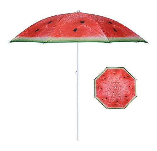 Sonnenschirm Ø 155 cm Strandschirm knickbar Schirm Balkonschirm Gartenschirm (Melone)