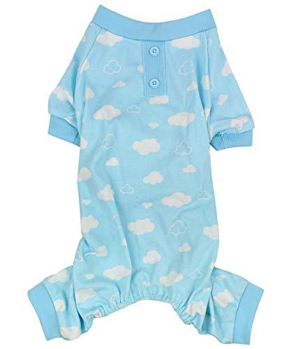 Parisian Pet Hunde-Pyjama/Pyjama für kleine bis mittelgroße Hunde, 2XL, Blue Cloud