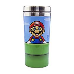 Super Mario: Take a break from gaming to drink from the Warp Pipe Travel Mug, a stainless steel mug with a plastic lid that holds 450ml (16oz). Mario is featured on one side and Luigi is on the other Hot and cold drinks: This cup's durable material a...