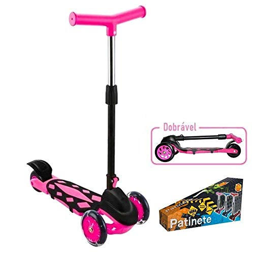 Patinete Radical Power Pink, DM Toys, Dobrável, Rosa